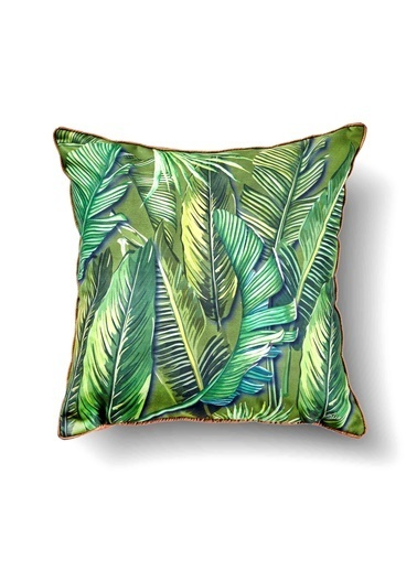 The Mia Tropik Yastık - Banana Palm Yeşil 50 x 50cm Renkli